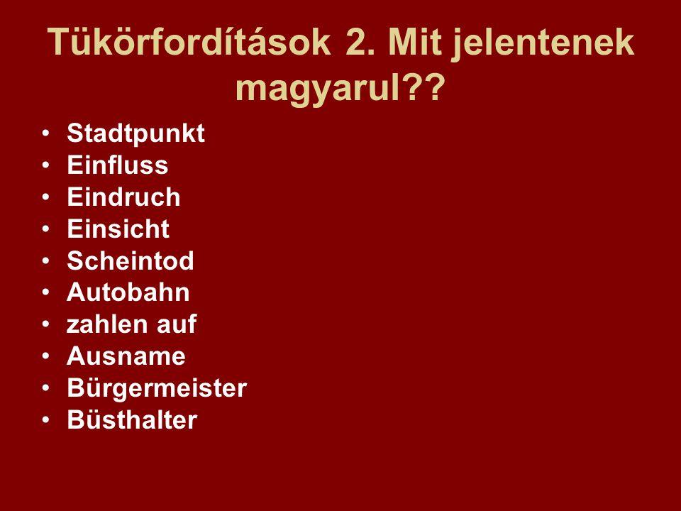 Tükörfordítások 2. Mit jelentenek magyarul