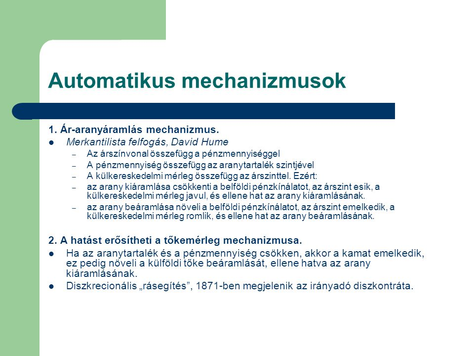Automatikus mechanizmusok