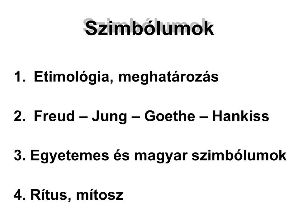 Szimbólumok 1. Etimológia, meghatározás