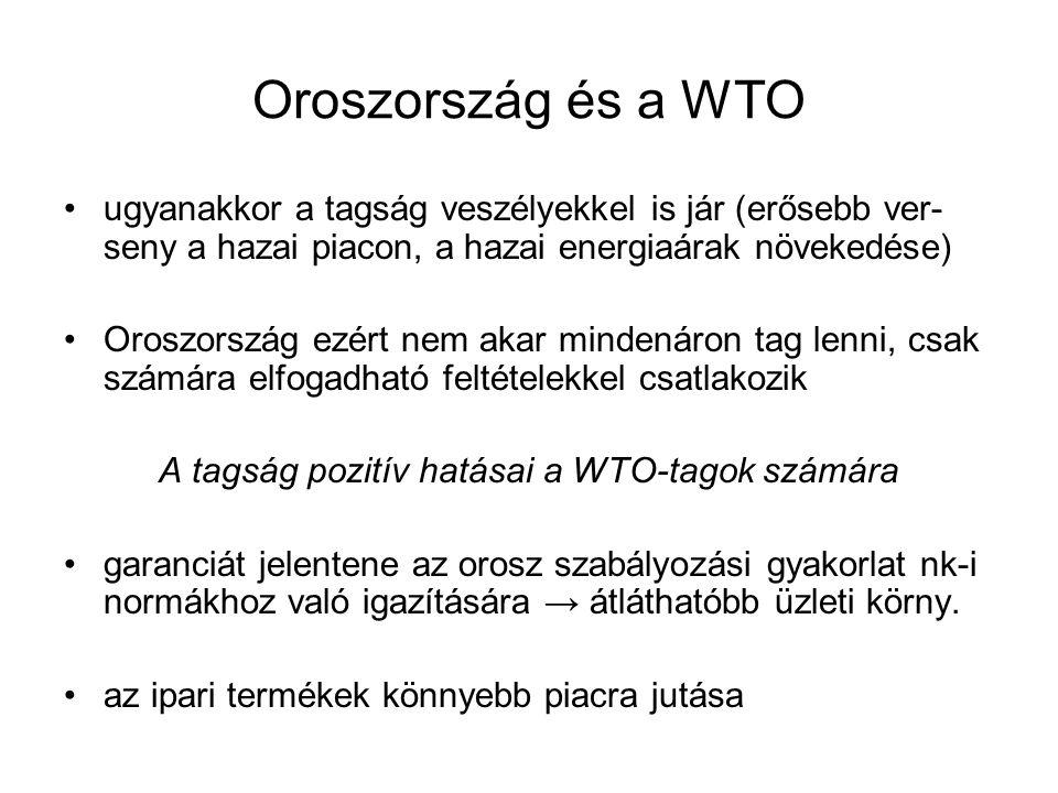 A tagság pozitív hatásai a WTO-tagok számára