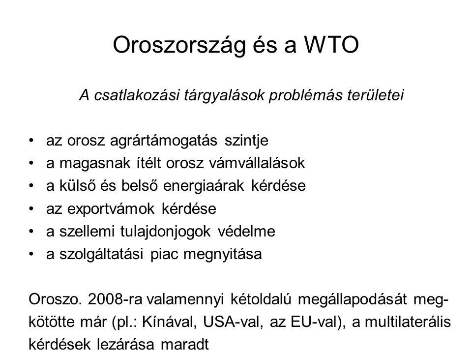 A csatlakozási tárgyalások problémás területei