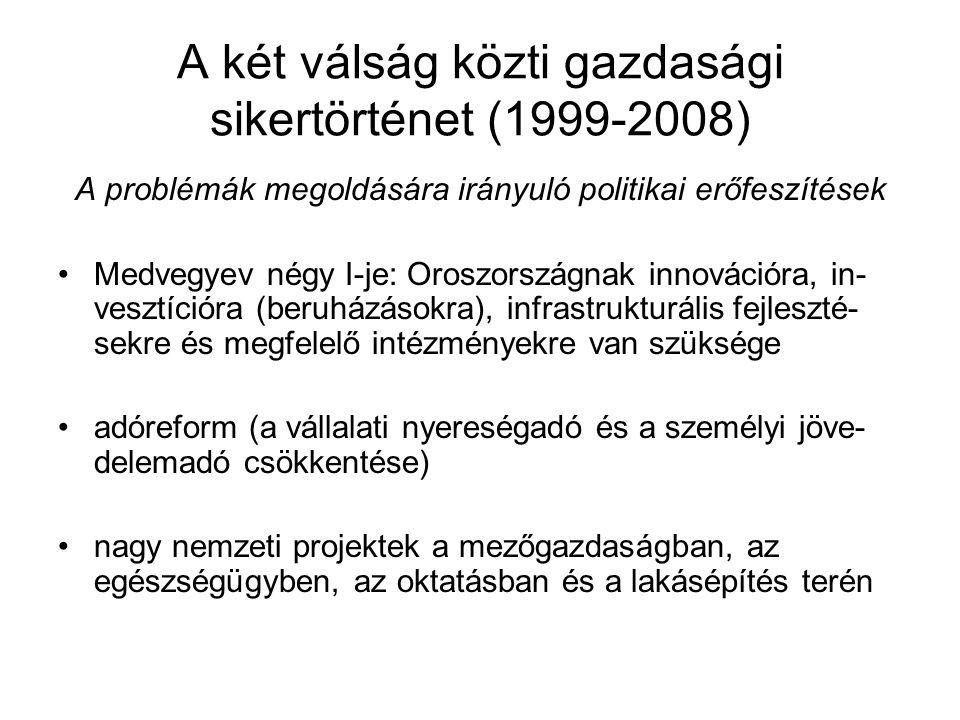 A két válság közti gazdasági sikertörténet (1999-2008)