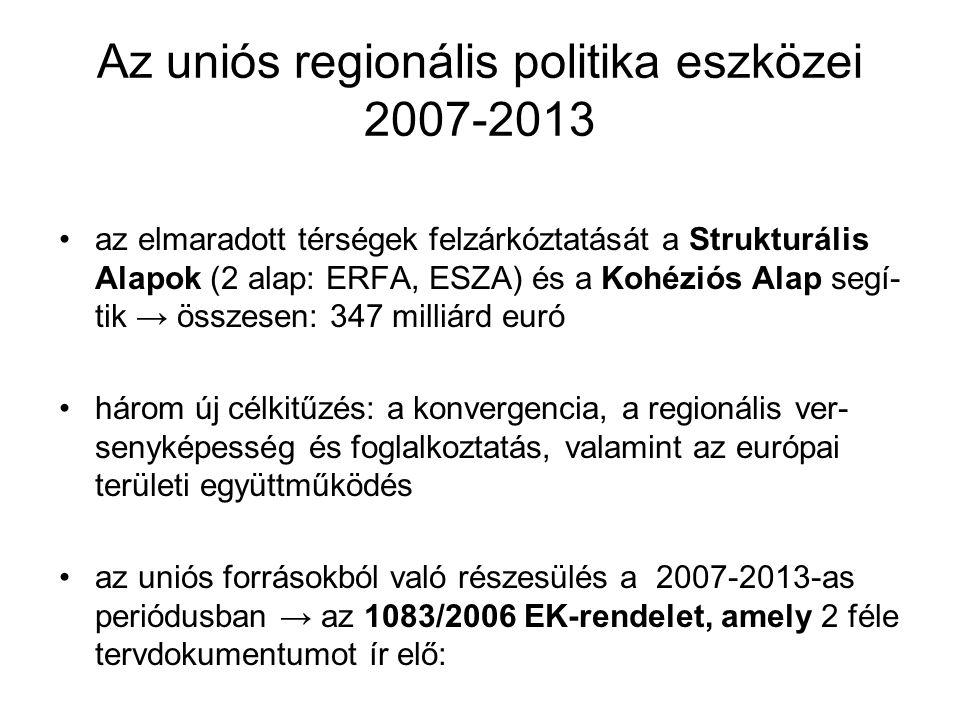 Az uniós regionális politika eszközei 2007-2013