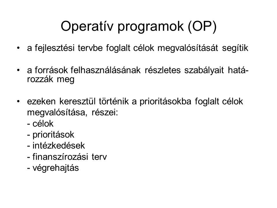 Operatív programok (OP)