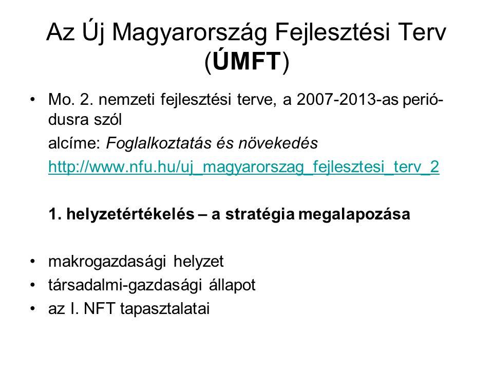 Az Új Magyarország Fejlesztési Terv (ÚMFT)