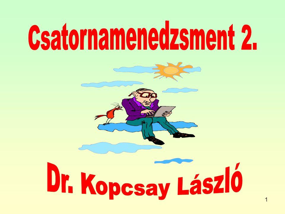 Csatornamenedzsment 2. Dr. Kopcsay László