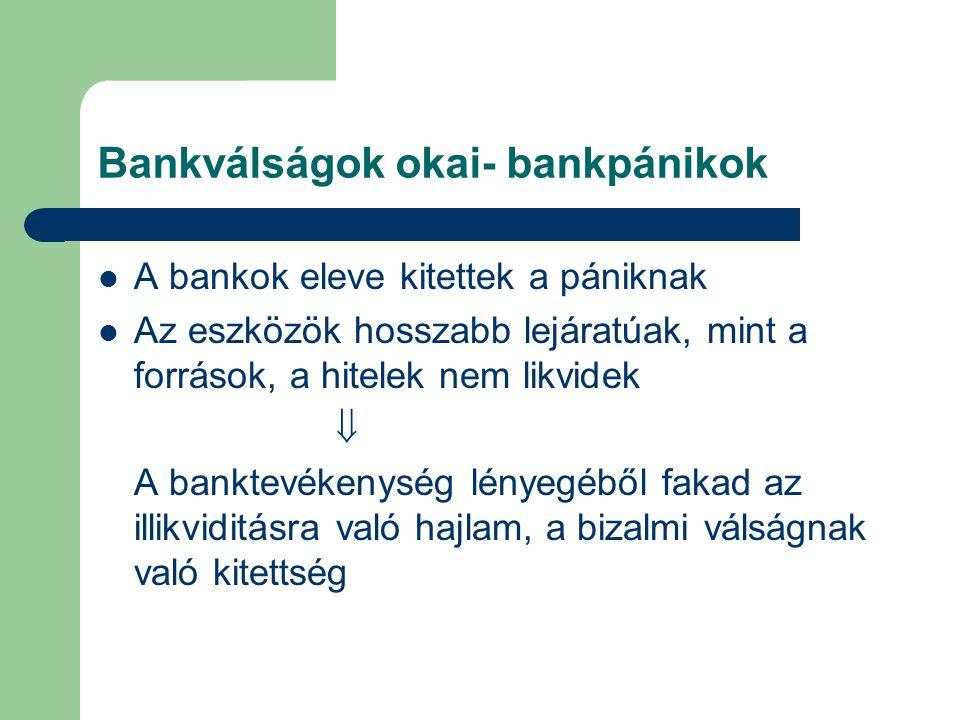 Bankválságok okai- bankpánikok