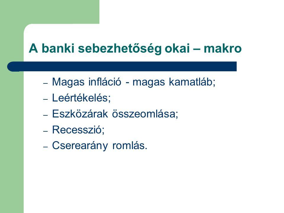 A banki sebezhetőség okai – makro