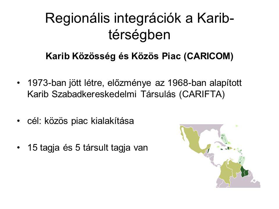 Regionális integrációk a Karib-térségben