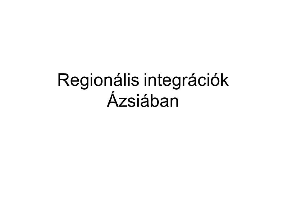 Regionális integrációk Ázsiában