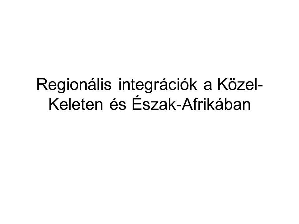 Regionális integrációk a Közel-Keleten és Észak-Afrikában