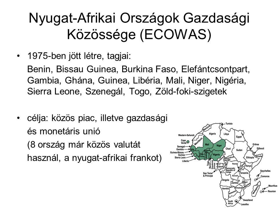 Nyugat-Afrikai Országok Gazdasági Közössége (ECOWAS)