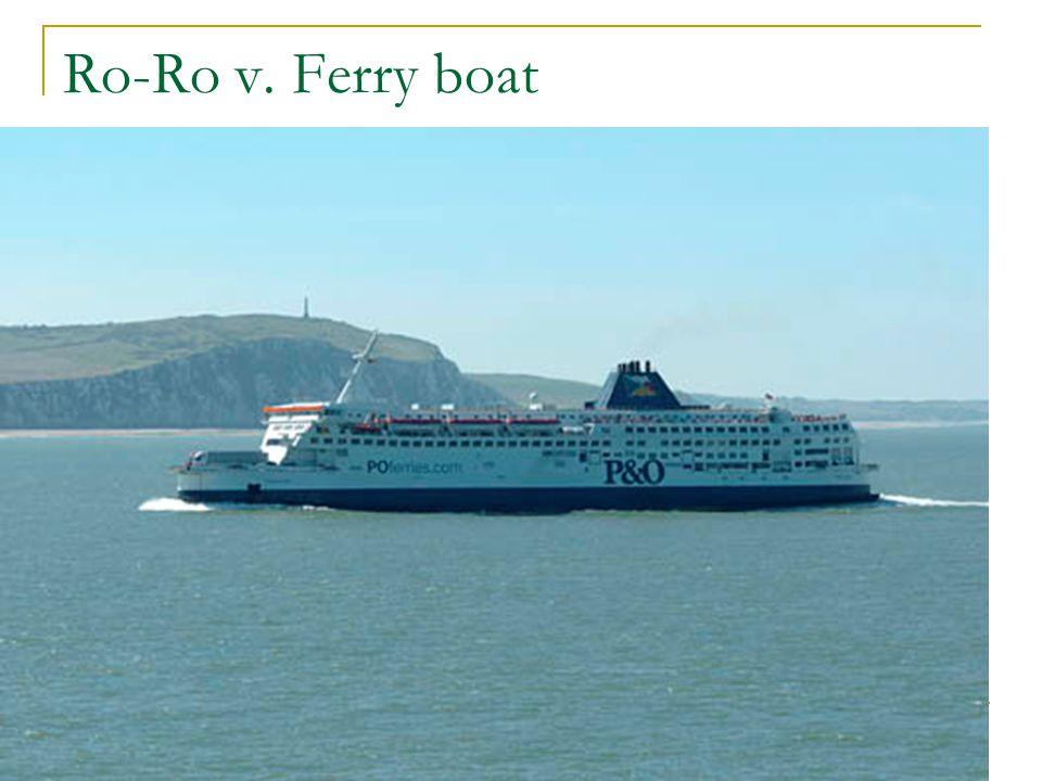 Ro-Ro v. Ferry boat