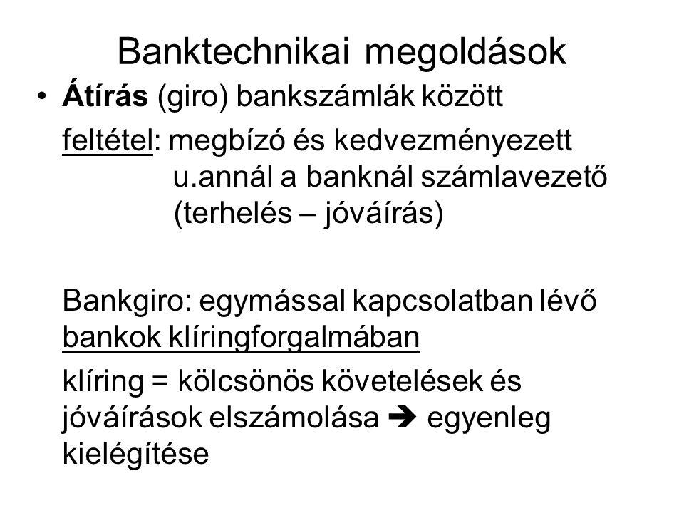 Banktechnikai megoldások