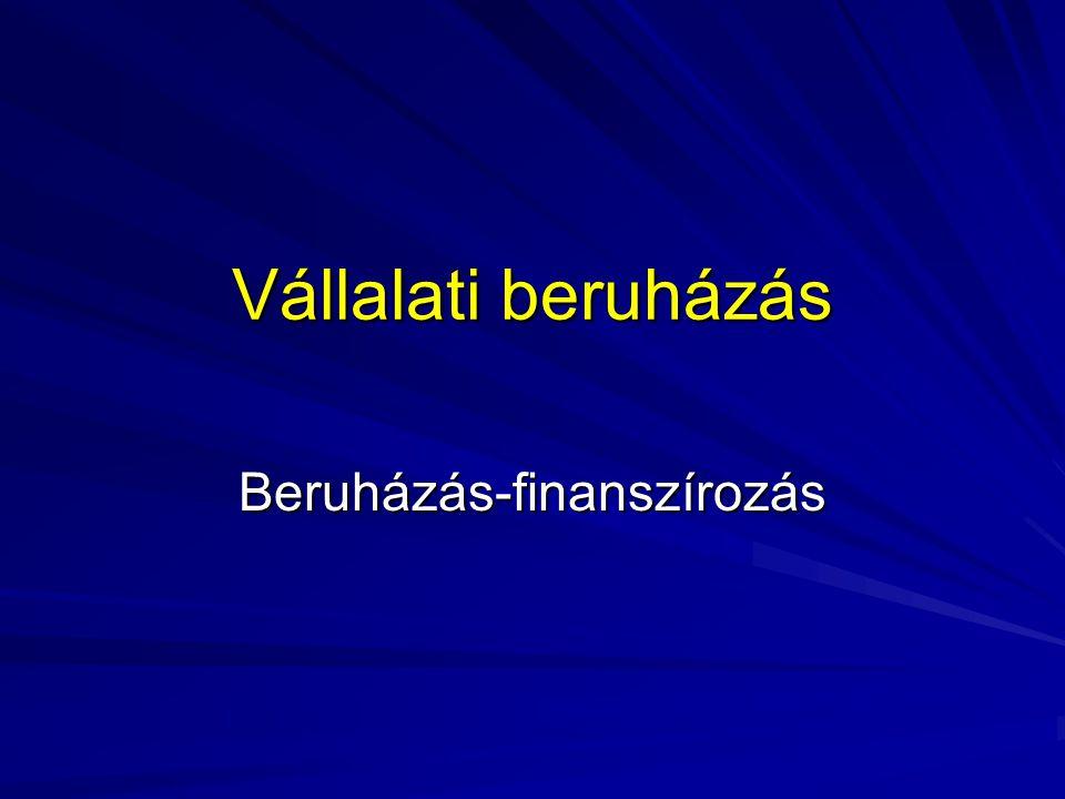 Beruházás-finanszírozás