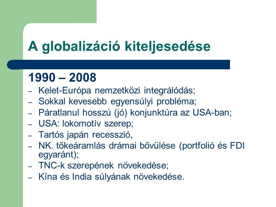 A globalizáció kiteljesedése