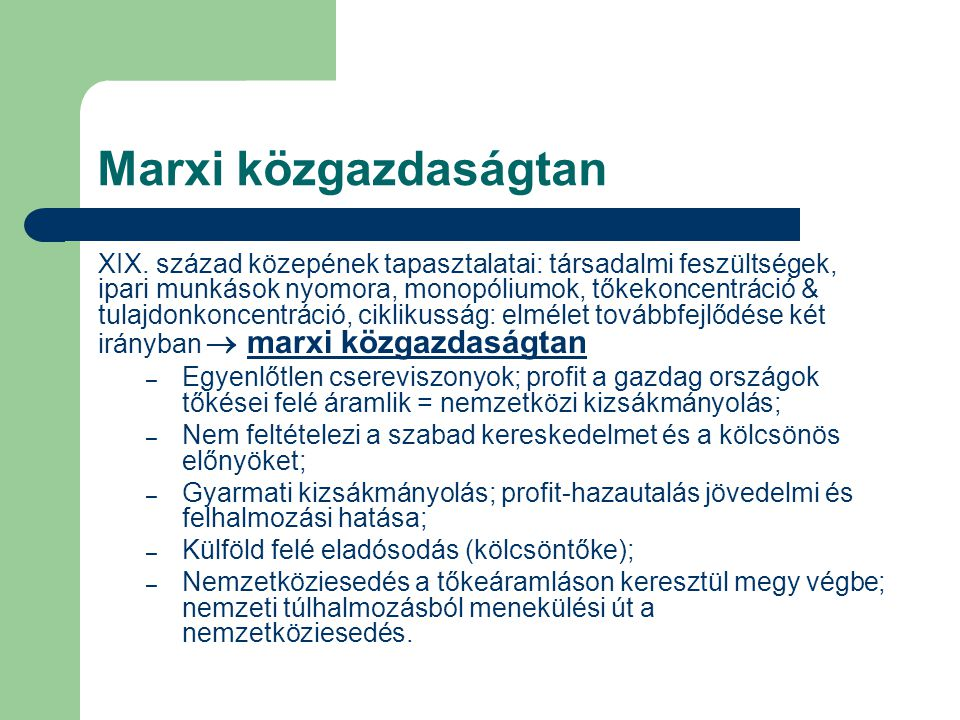 Marxi közgazdaságtan