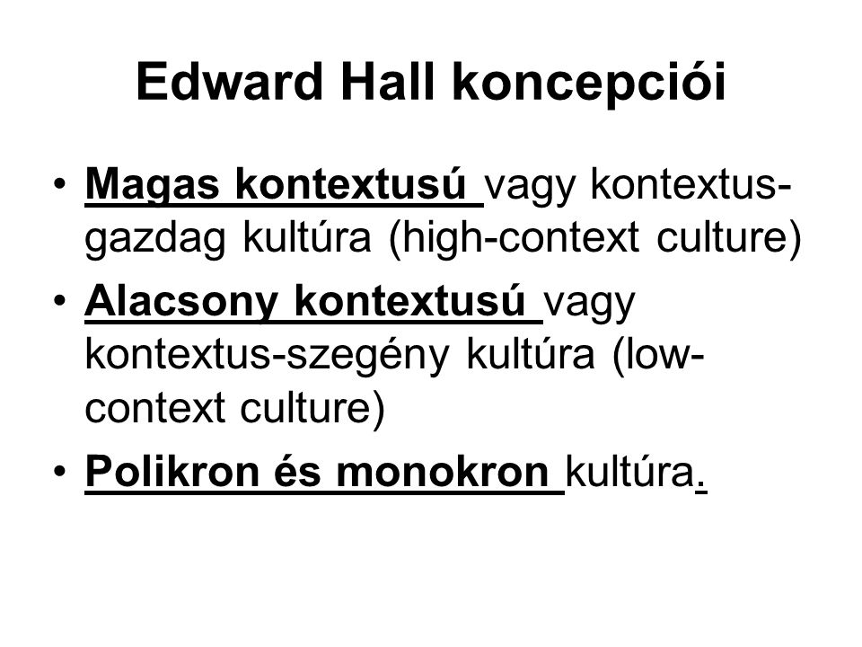 Edward Hall koncepciói