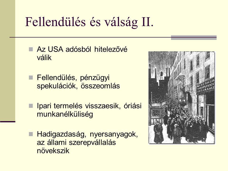 Fellendülés és válság II.