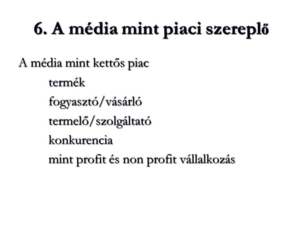 6. A média mint piaci szereplő