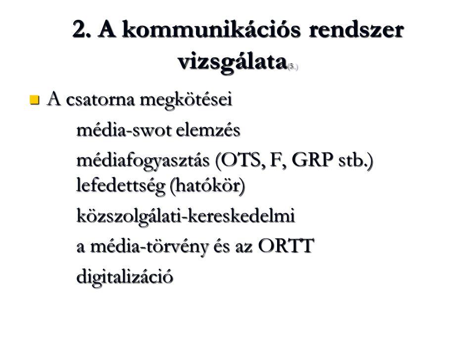 2. A kommunikációs rendszer vizsgálata(5.)