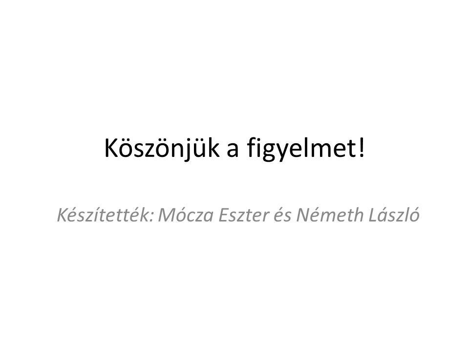 Készítették: Mócza Eszter és Németh László