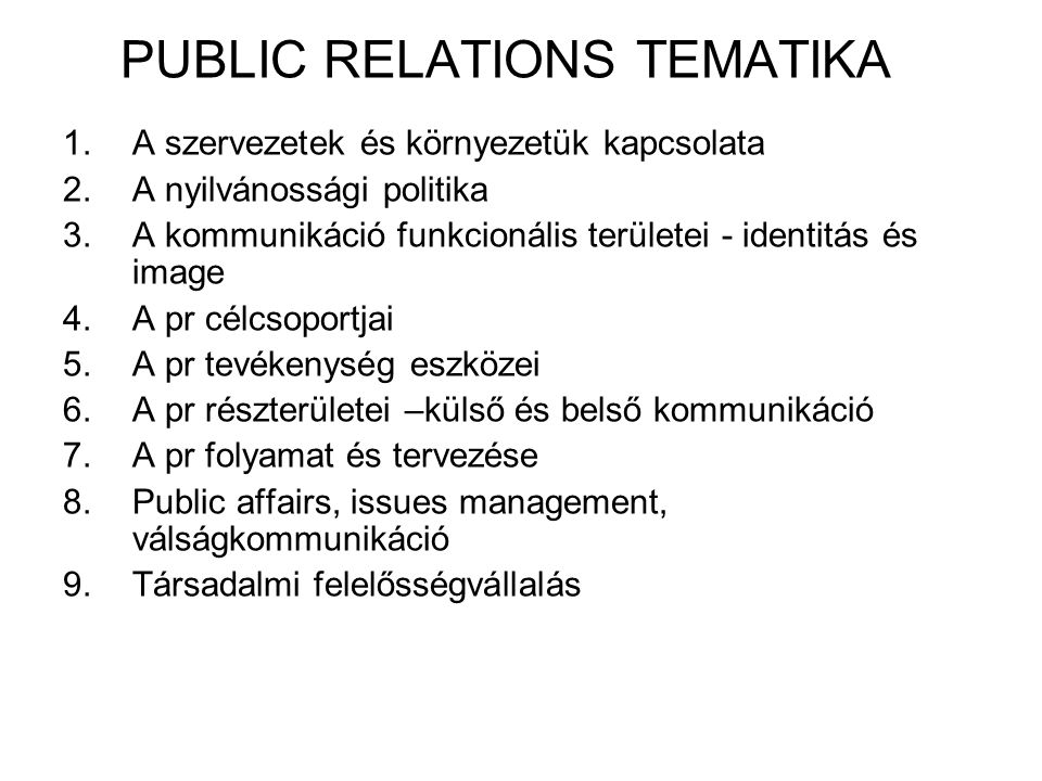 PUBLIC RELATIONS TEMATIKA