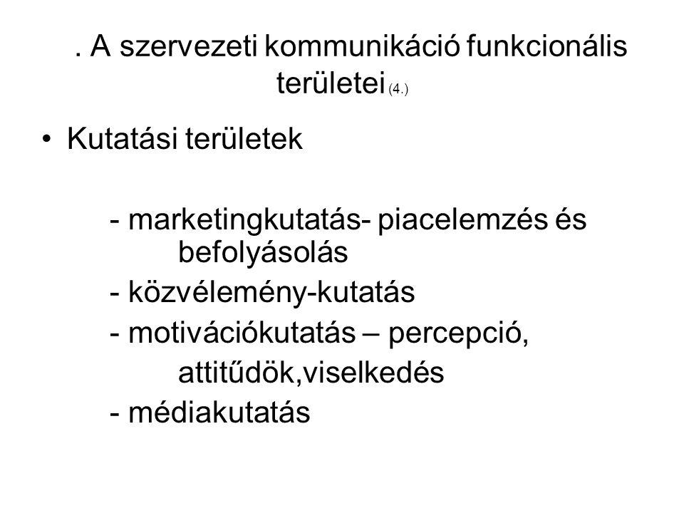 3. A szervezeti kommunikáció funkcionális területei (4.)