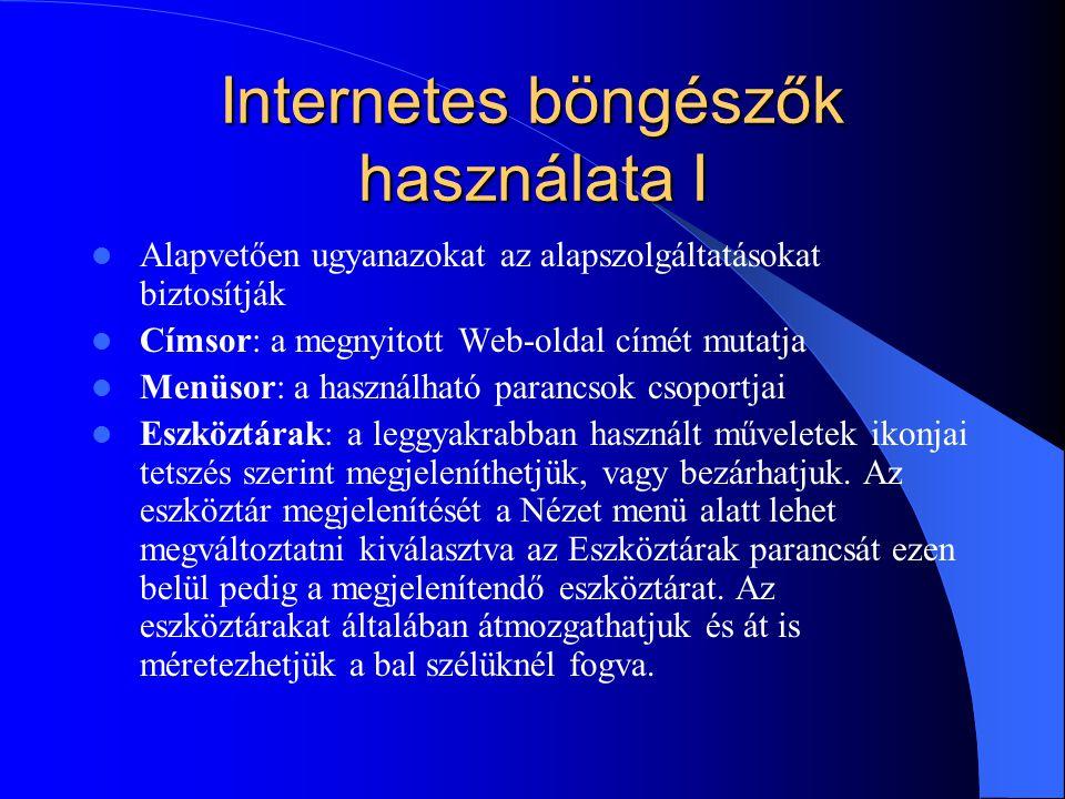 Internetes böngészők használata I