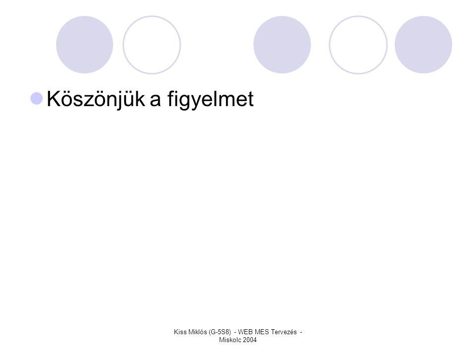 Kiss Miklós (G-5S8) - WEB MES Tervezés - Miskolc 2004