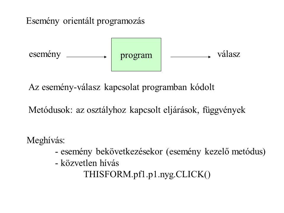 Esemény orientált programozás