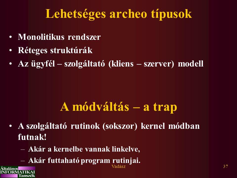Lehetséges archeo típusok