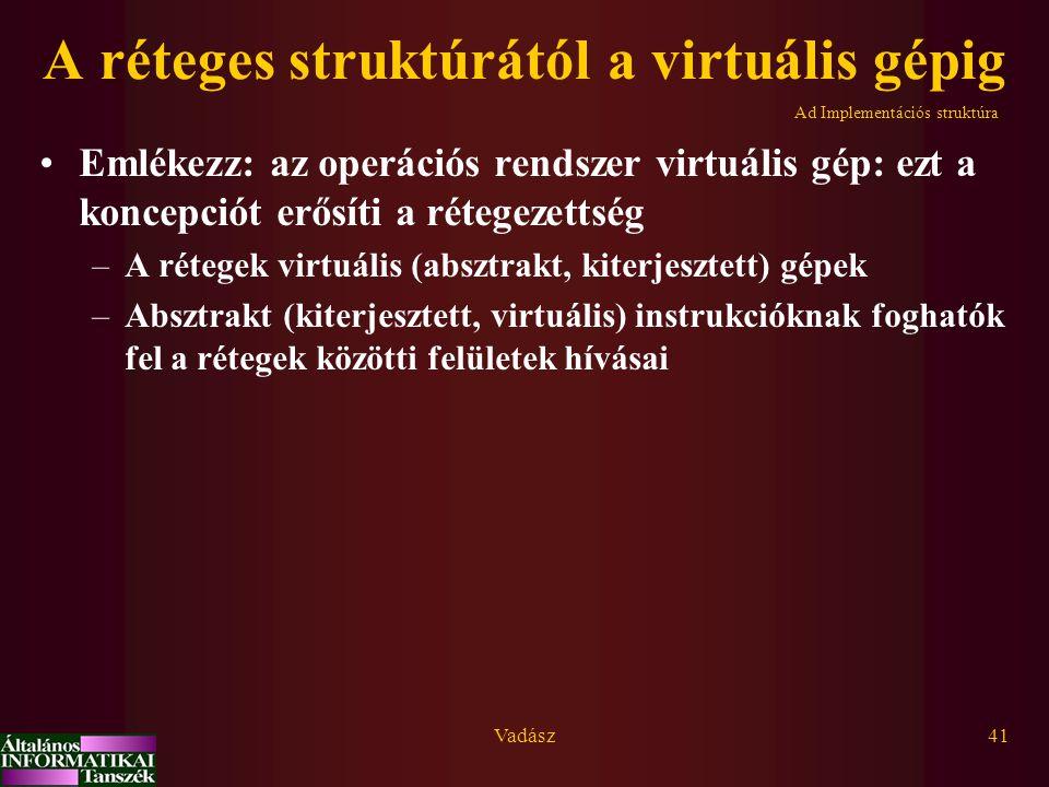 A réteges struktúrától a virtuális gépig