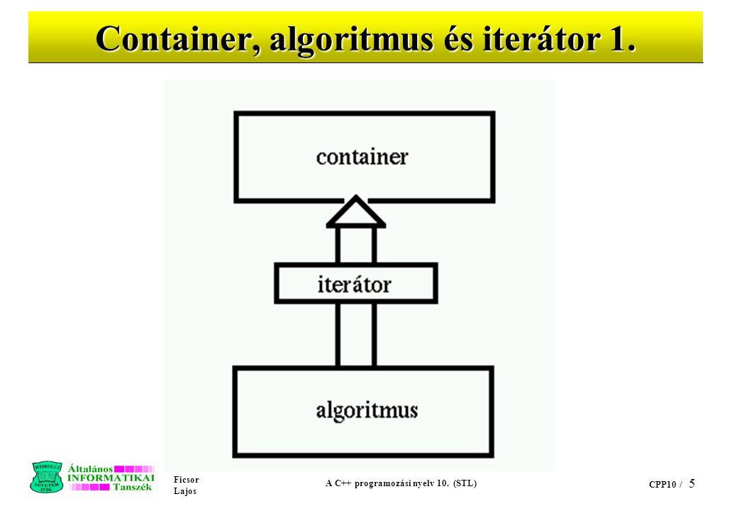 Container, algoritmus és iterátor 1.
