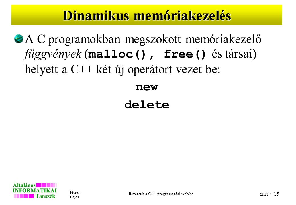 Dinamikus memóriakezelés