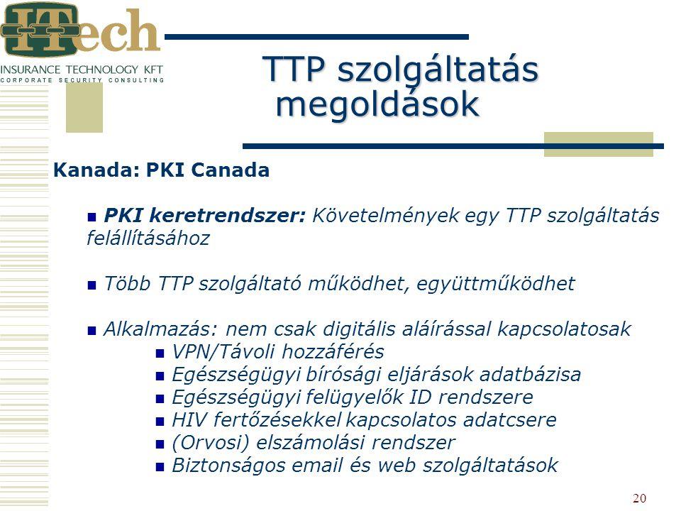 TTP szolgáltatás megoldások