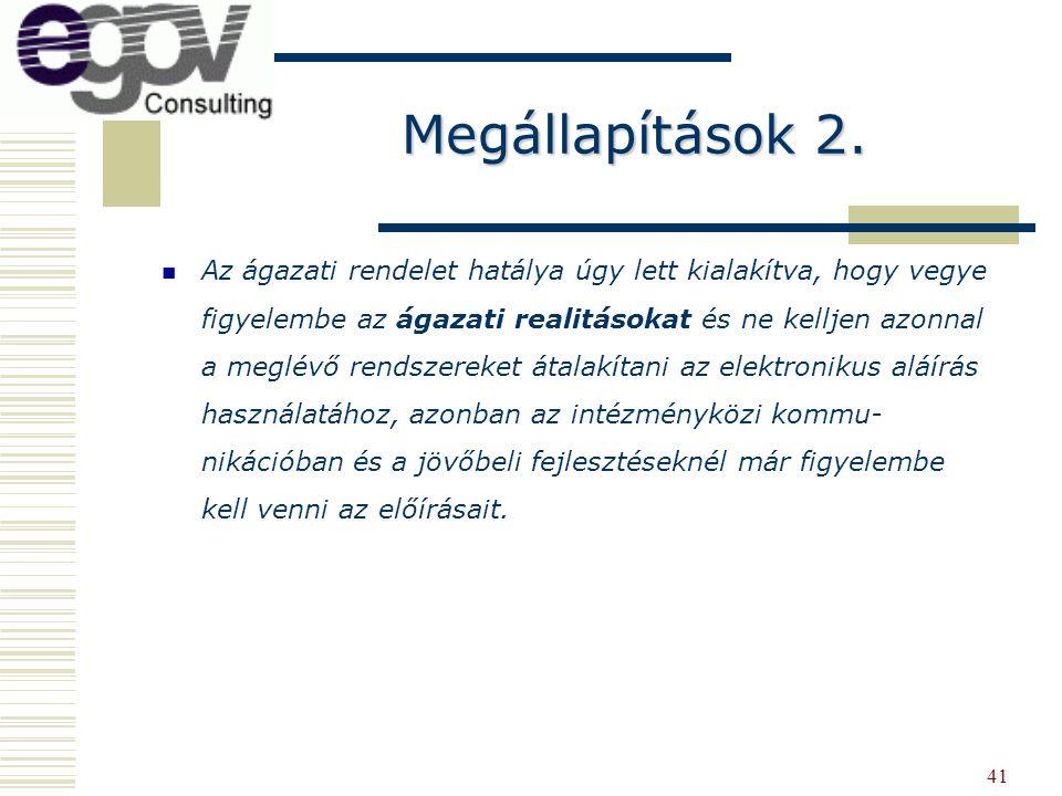 Megállapítások 2.