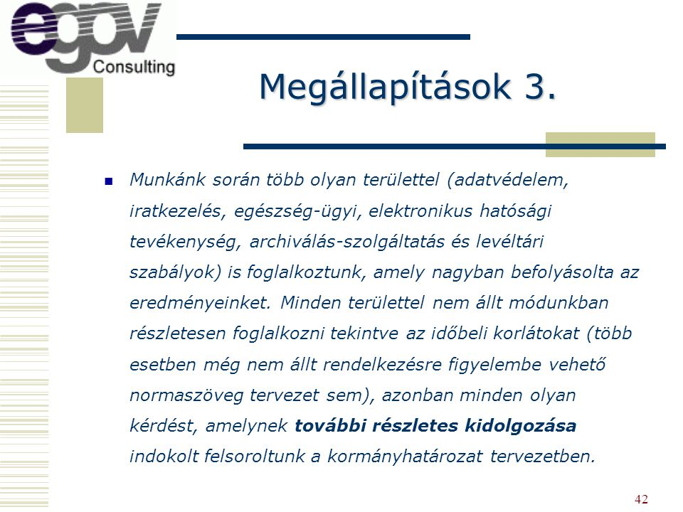 Megállapítások 3.