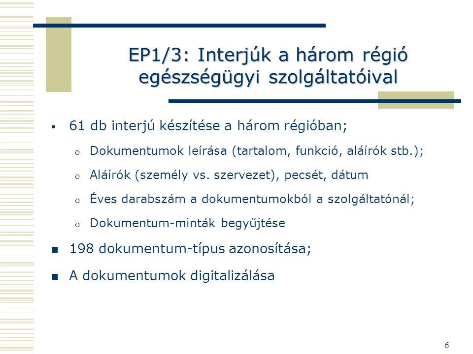EP1/3: Interjúk a három régió egészségügyi szolgáltatóival