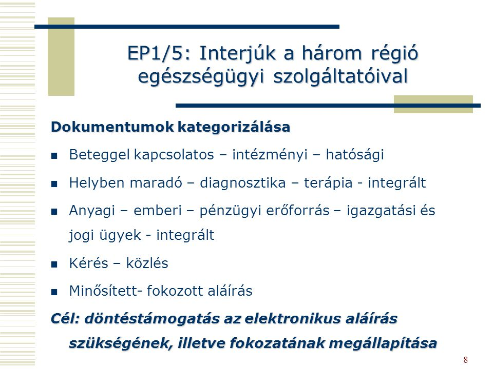 EP1/5: Interjúk a három régió egészségügyi szolgáltatóival