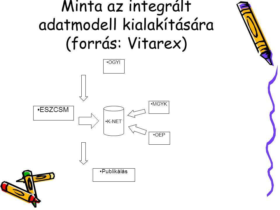 Minta az integrált adatmodell kialakítására (forrás: Vitarex)