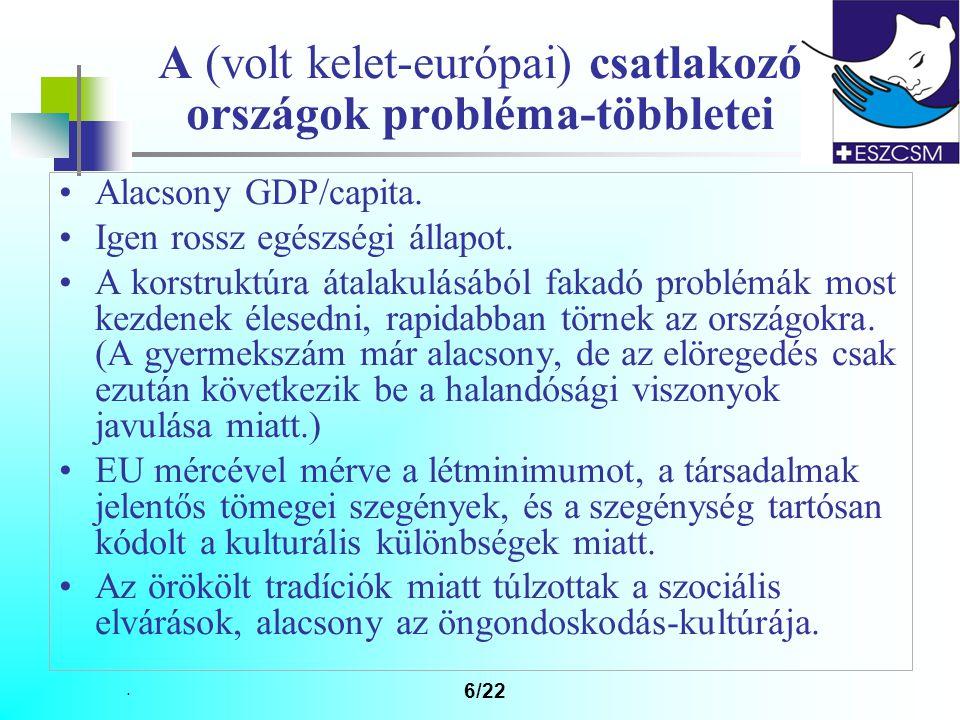 A (volt kelet-európai) csatlakozó országok probléma-többletei