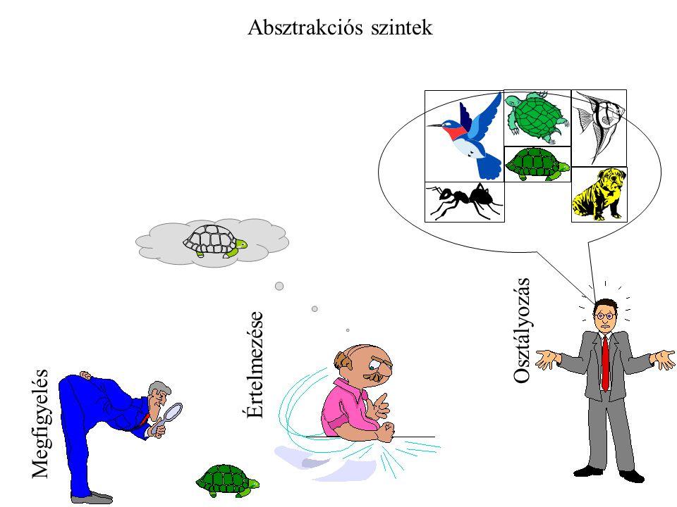 Absztrakciós szintek Osztályozás Értelmezése Megfigyelés