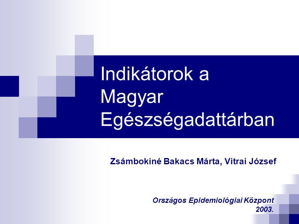 Indikátorok a Magyar Egészségadattárban