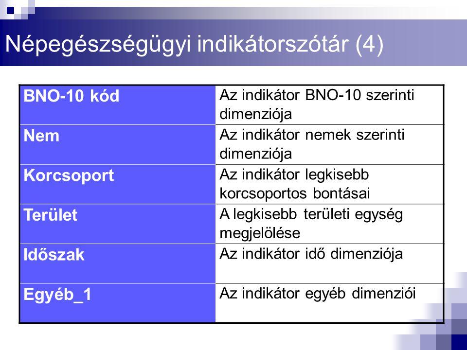Népegészségügyi indikátorszótár (4)