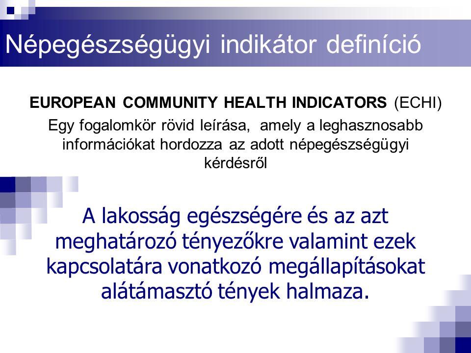 Népegészségügyi indikátor definíció