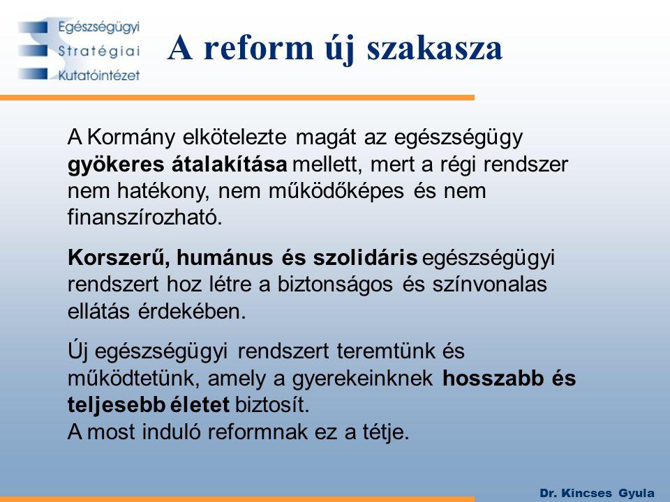 A reform új szakasza