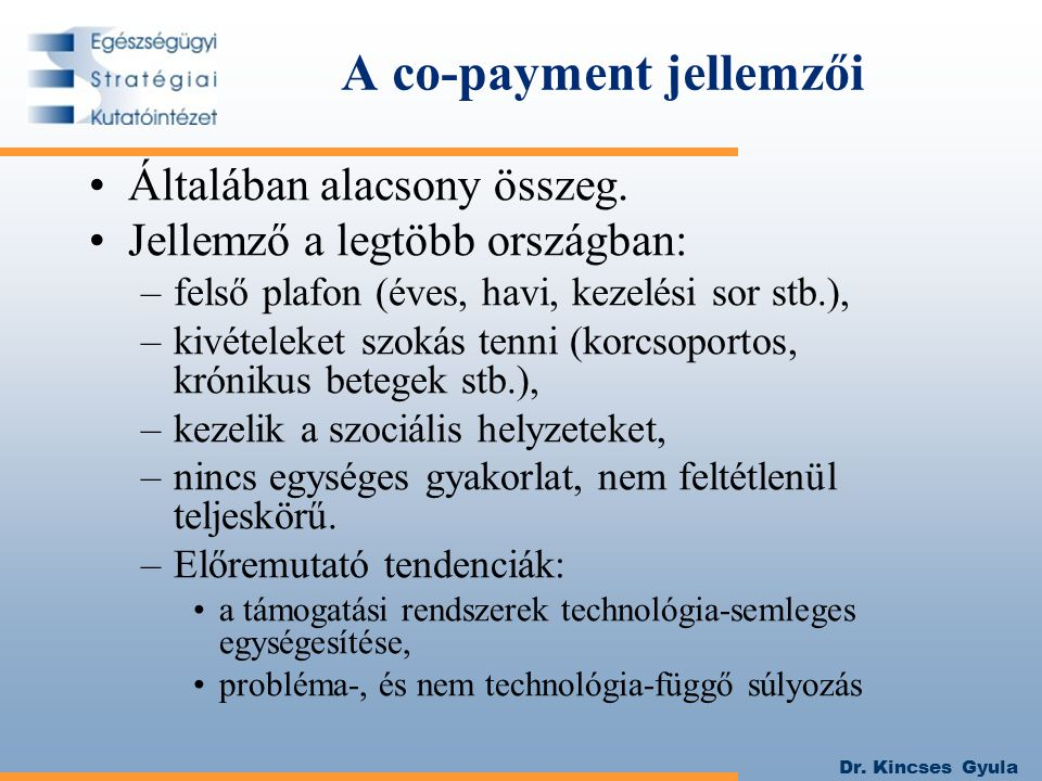 A co-payment jellemzői