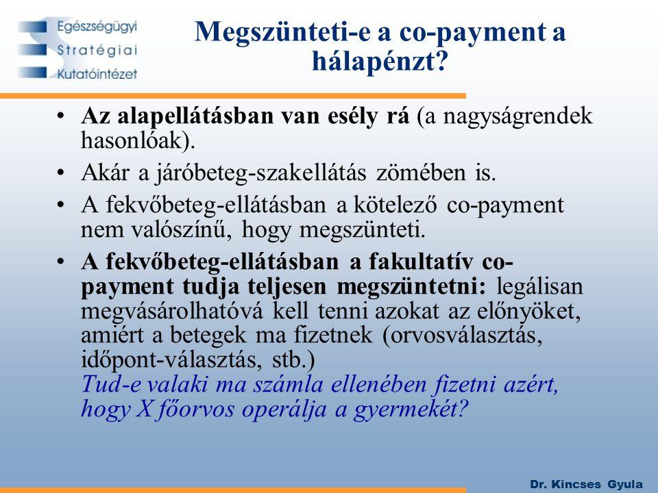 Megszünteti-e a co-payment a hálapénzt