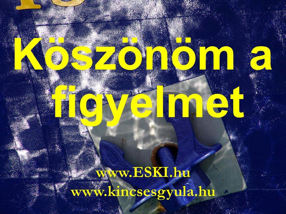 Köszönöm a figyelmet www.ESKI.hu www.kincsesgyula.hu